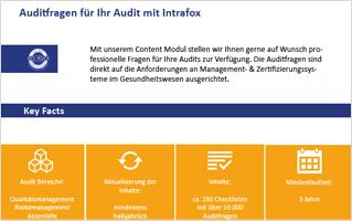 Fragen und Checklisten für das Modul Auditmanagement