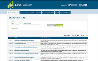 Neues CIRS Health Care Portal