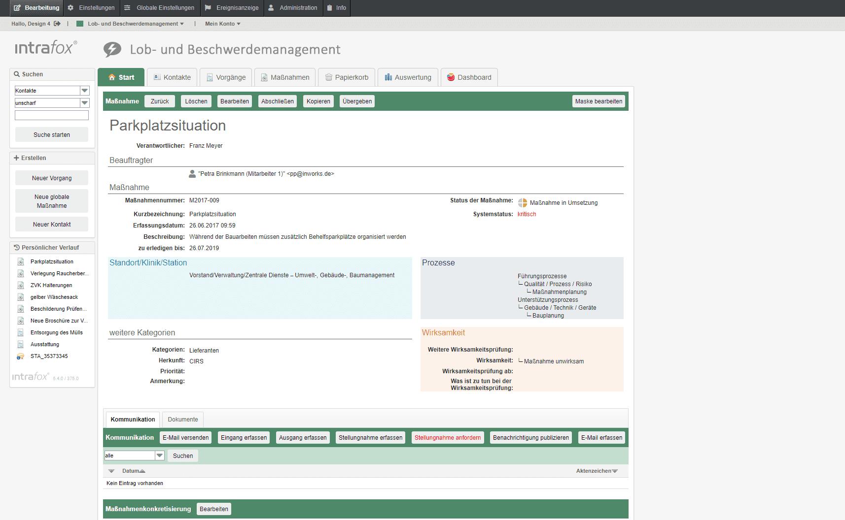 Beschwerdemanagement Software – Beschwerdebearbeitung