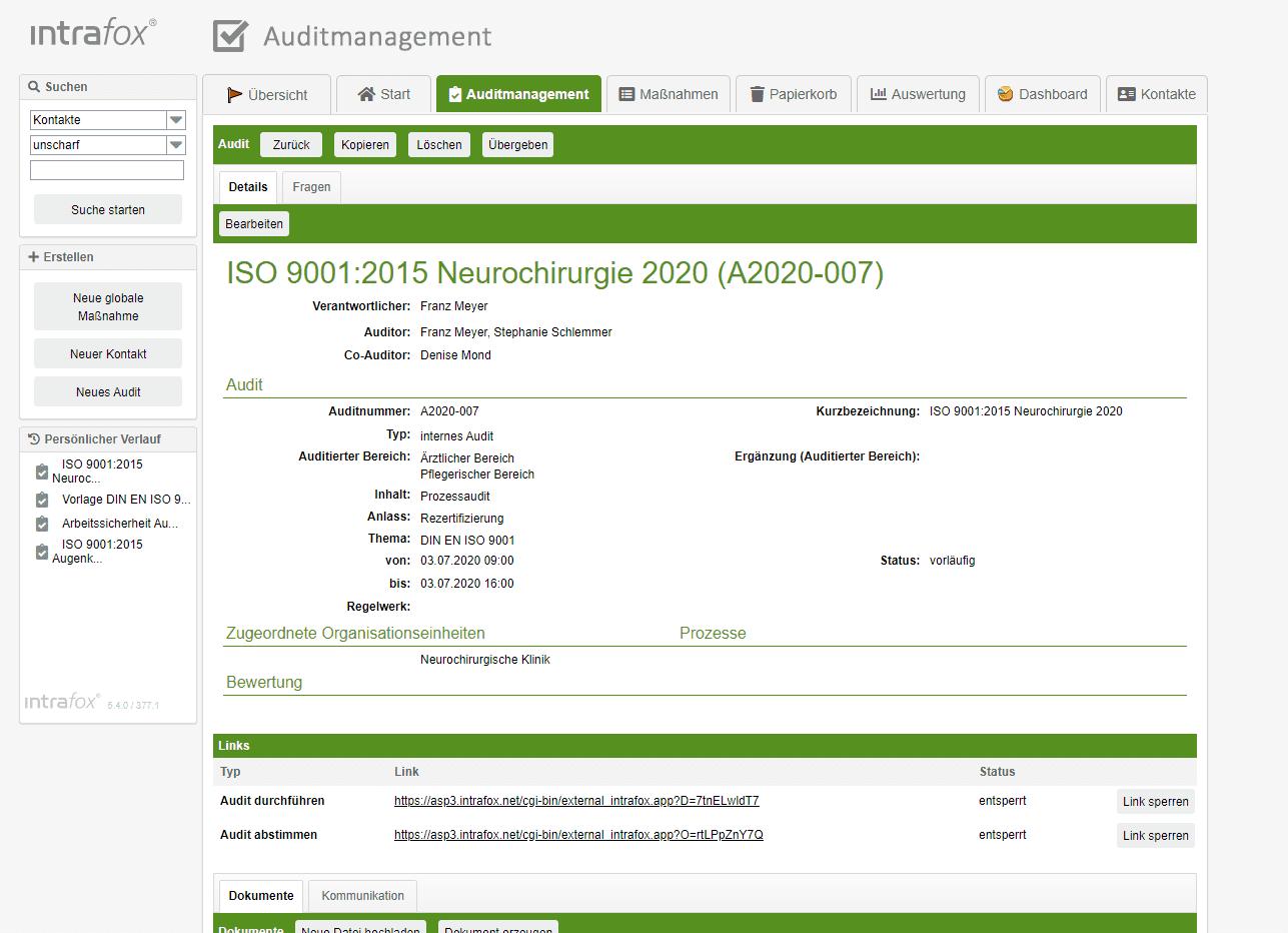 Auditmanagement Software - Auditplanung