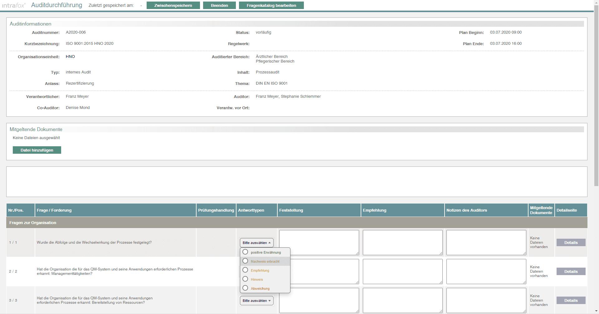 Auditmanagement Software - Audits im Krankenhaus