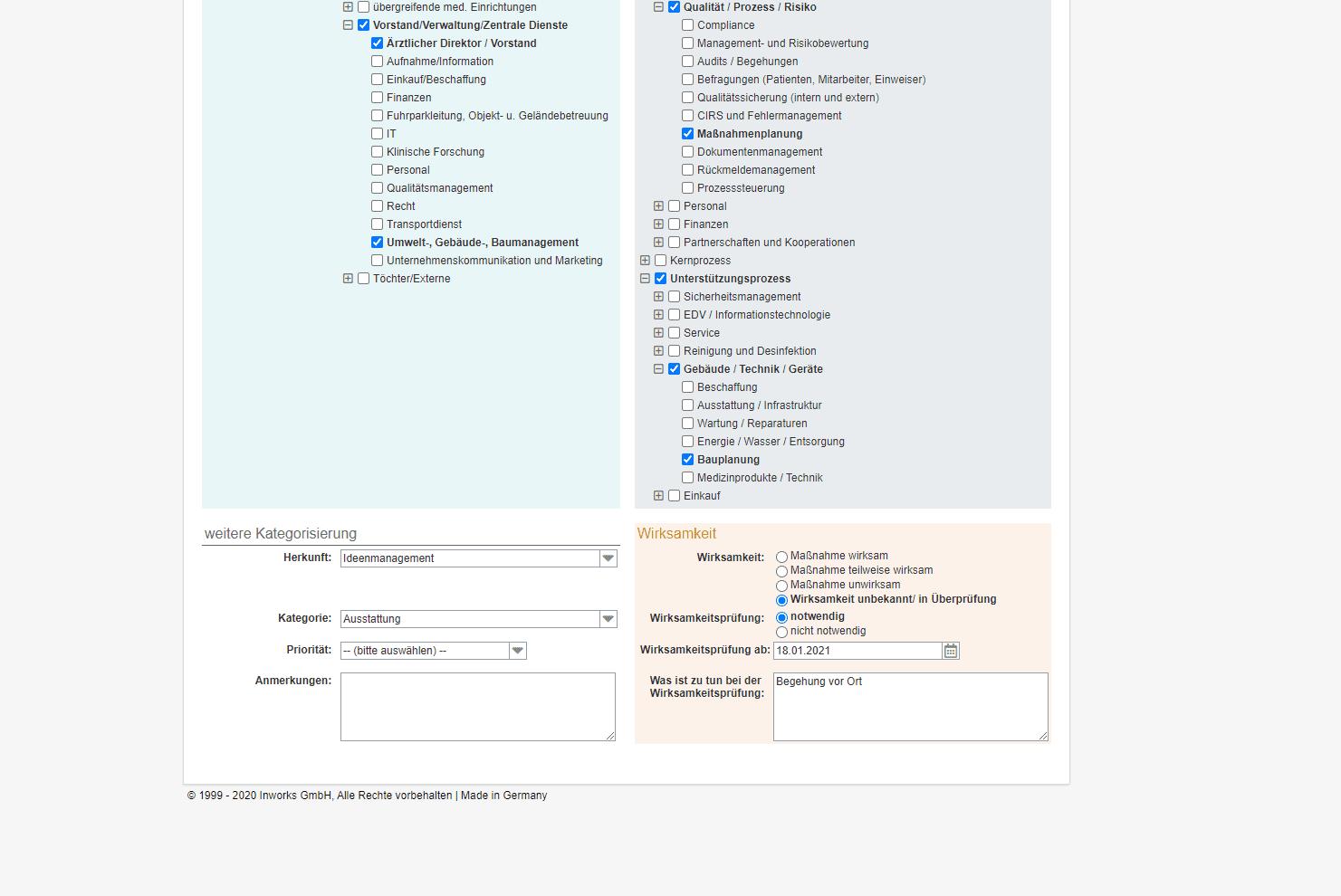 Maßnahmenmanagement im Krankenhaus: Wirksamkeitsprüfung